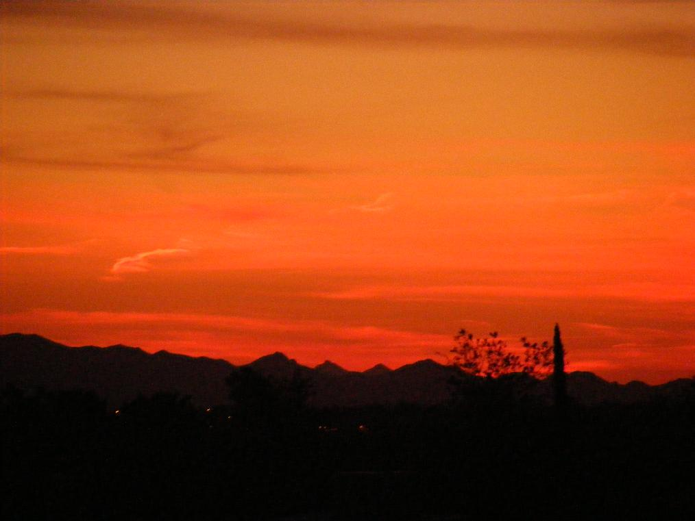Arizona Sunset Deep Red Hues
