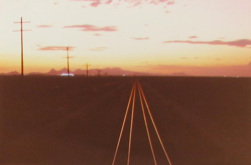 Arizona Sunset Train Tracks