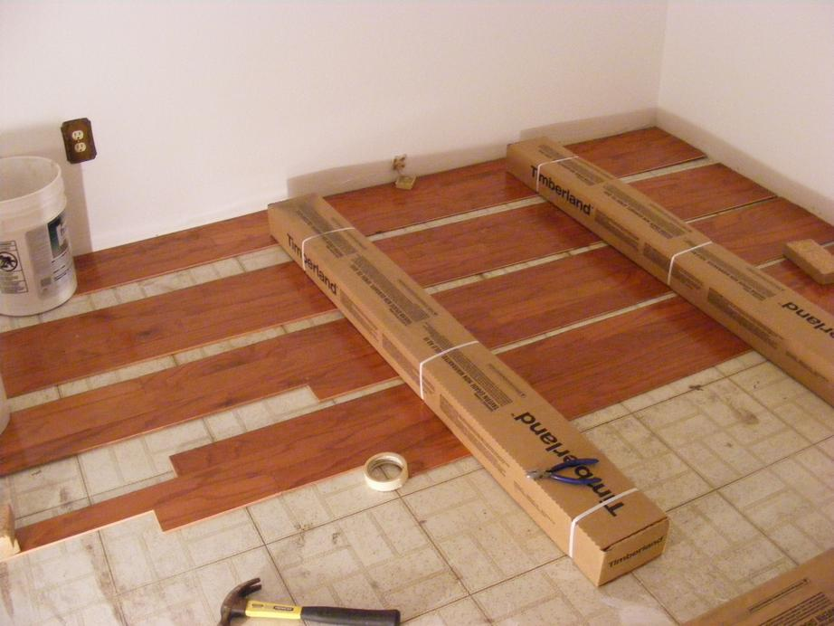 Laying Out the Plank Style Wood Flooring