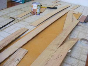 Bowed Boards With Adhesive