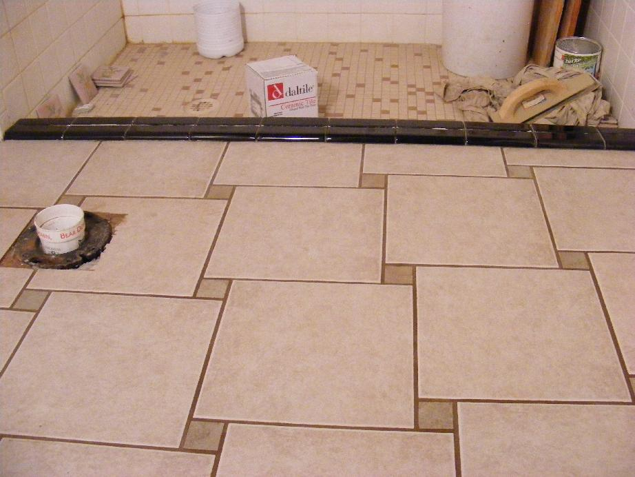 Working With Ceramic Tile : Pecos sww shower stepover ceramic tile work