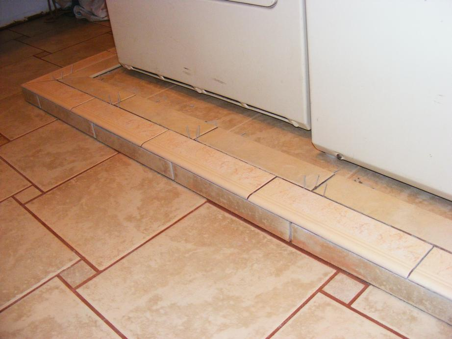 Pecos SWW<>Installing Ceramic Bullnose Tile on a Washer and Dryer ...