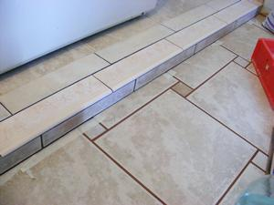 Existing Grout Lines Masked