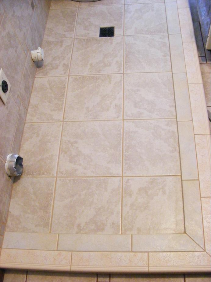 Front Floor Layout · Catch Basin Ceramic Tile Floor