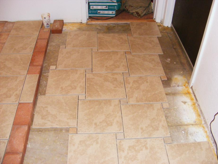 How To Install Pinwheel Pattern Kitchen Ceramic Tile Floor Apps
