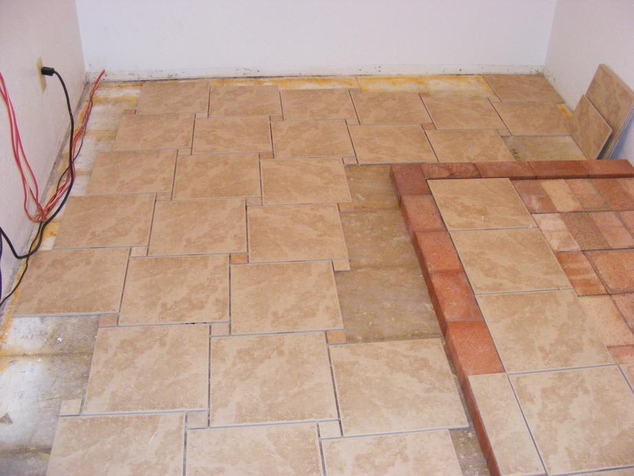 Floor tile patterns casual cottage Ceramic tile flooring installation