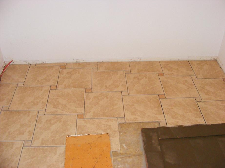 Cutting tile in place tile design ideas for Ceramic floor installation