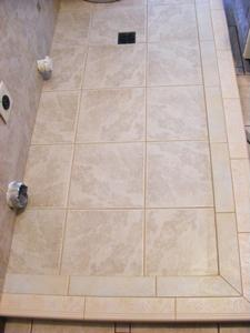 Catch Basin Ceramic Tile Floor