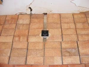 The Paver Layout for the Drain