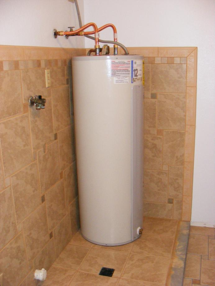 Pecos sww replace utility room plumbing for Water heater pipe
