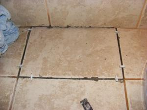 Set New Replacement Tile in Place