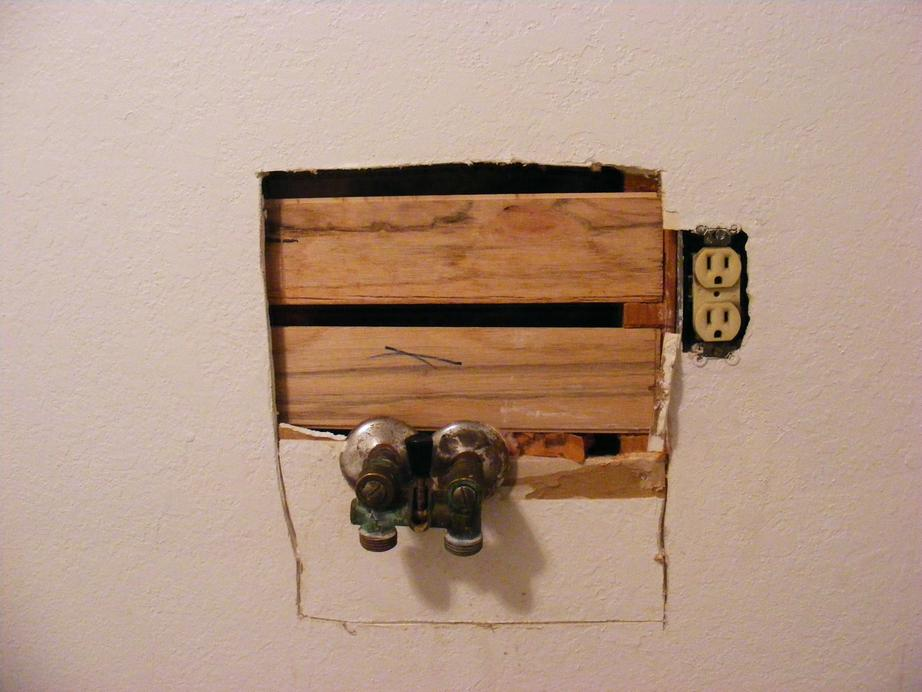 Wallboard Repair Using Scrap Plank Floor