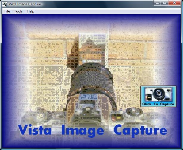 Vista Image Capture Splash Screen